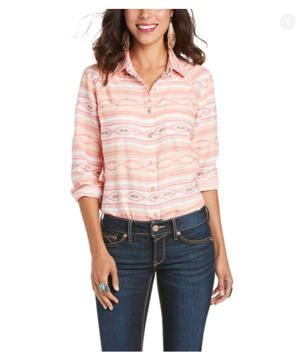 Chemise Ariat Real Billie Jean snap Pure Peach