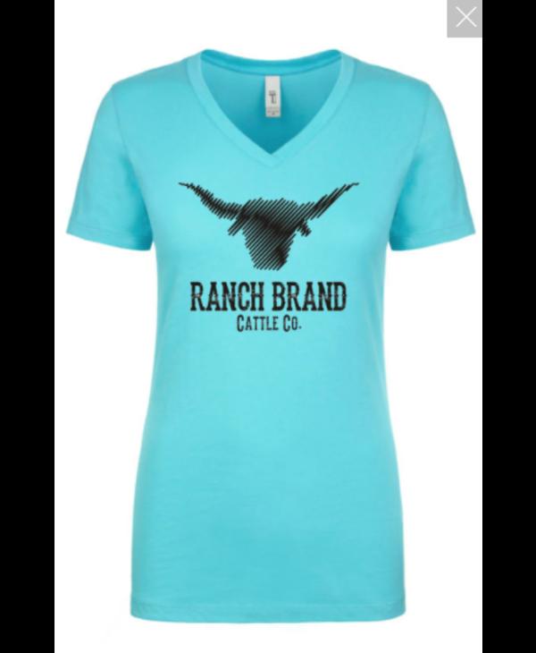 T-Shirt Ranch Brand Teal/Noir