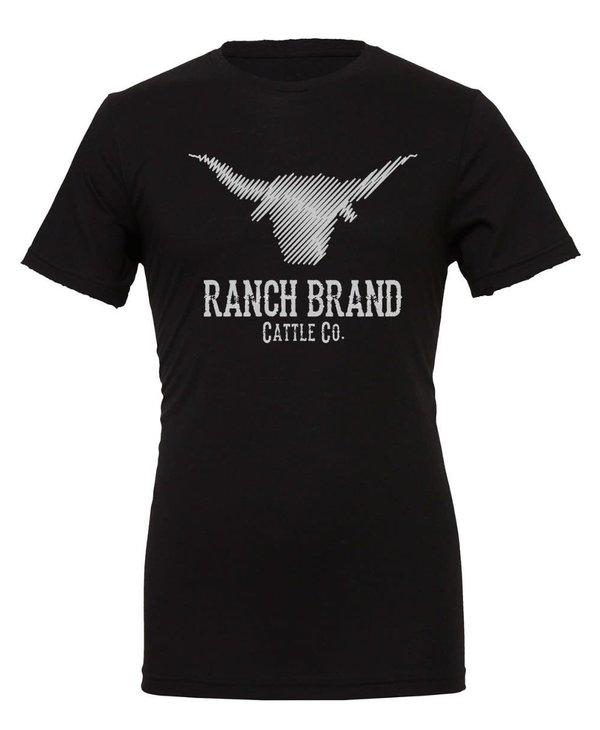 Chandail Ranch Brand - Noir Logo Gris