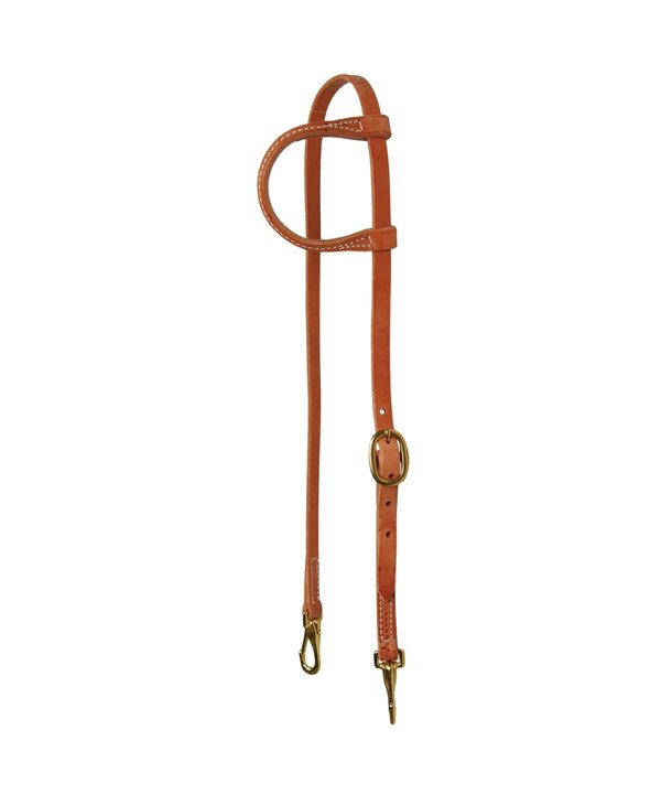 WESTERN RAWHIDE SIGNATURE ONE EAR HEADSTALL WITH SNAPS, 5/8 INCH, HARNESS LEATHER