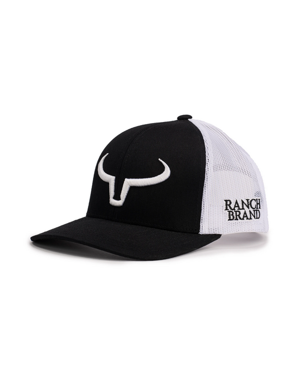 Casquette Ranch Brand Noir - Logo Blanc