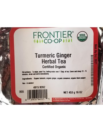 Frontier Coop Turmeric Ginger Herbal Tea Organic 1oz