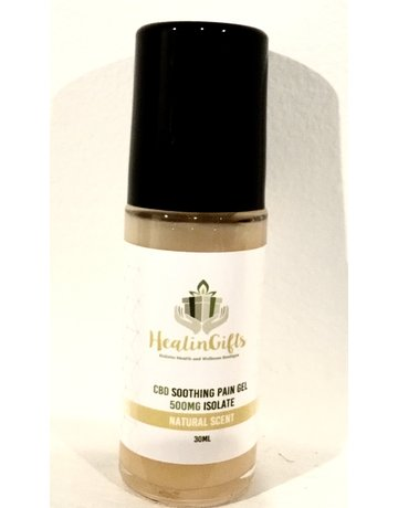 Healingifts CBD soothing pain gel 500 mg Isolate 30 ml natural scent