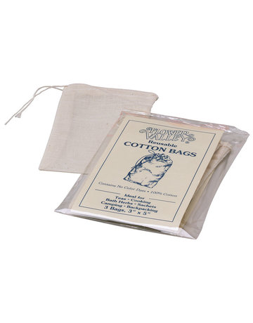 Flower Valley Flower Valley Reusable Cotton Tea Bags