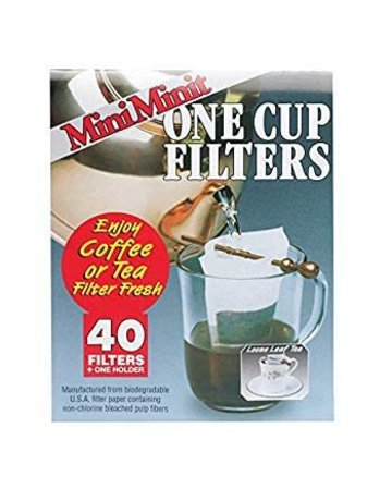 Mini Minit Mini Minit Non-Chlorine Bleached Coffee and Tea Filter 1 cup