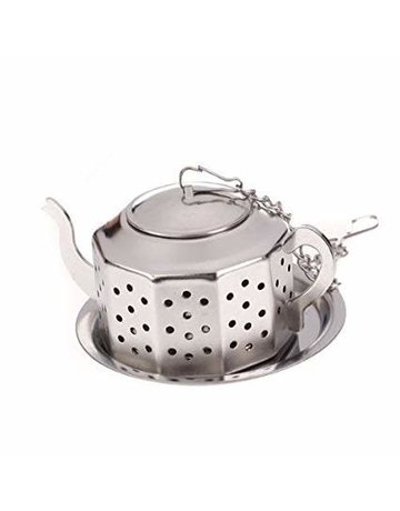 Norpro Stainless Steel Teapot with Tray
