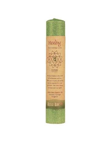 """Aloha Bay Aloha Bay Healing Green Chakra Pillar Candle 8"""""""