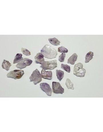 Amethyst raw chunks  1/2 to 1 cm ea