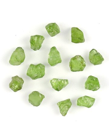 Peridot natural raw small chunks
