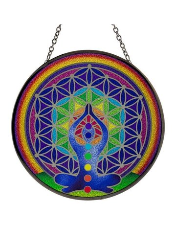 Glass Sun-catcher 6 in - Chakra