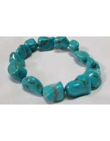 Reconstructed Turquoise Tumbled Stone Bracelet