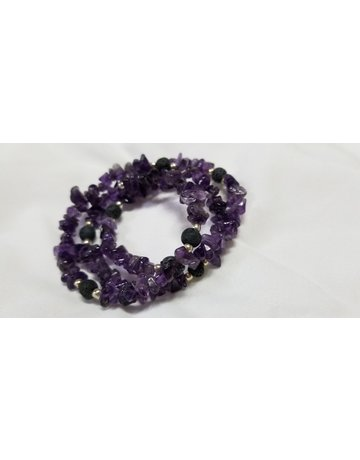 Amethyst Wrap Around Bracelet