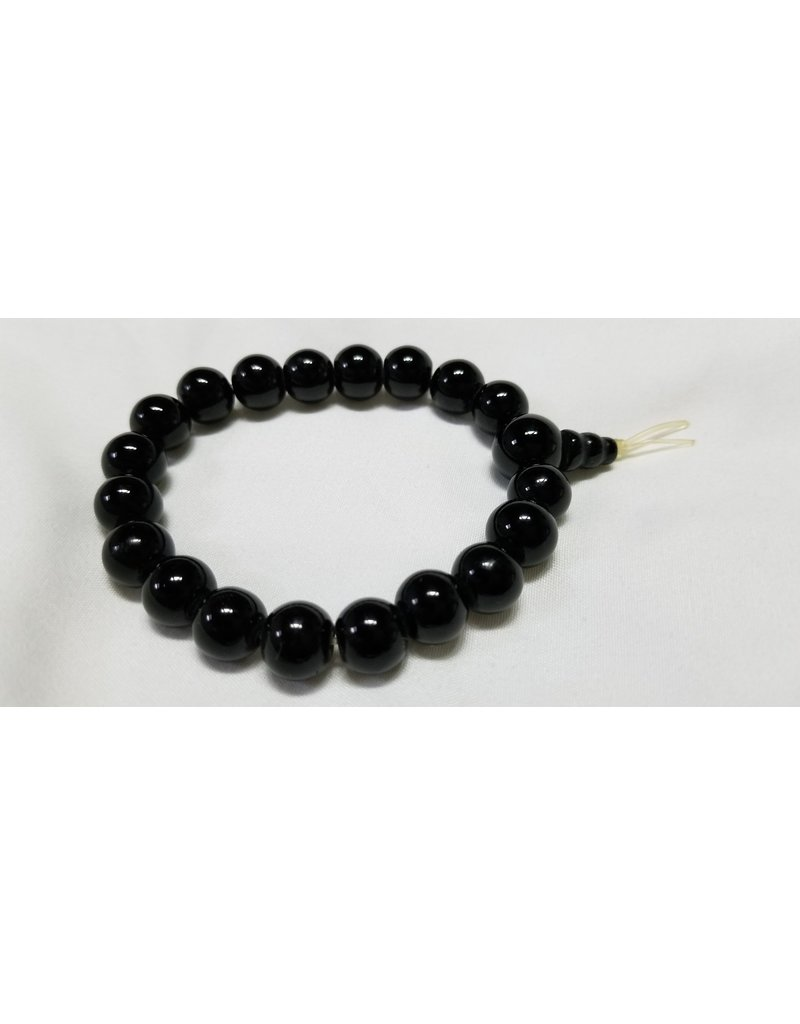 Obsidian beads regular mala bracelet  elastic