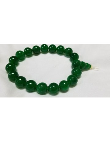 Jade elastic mala bracelet regular