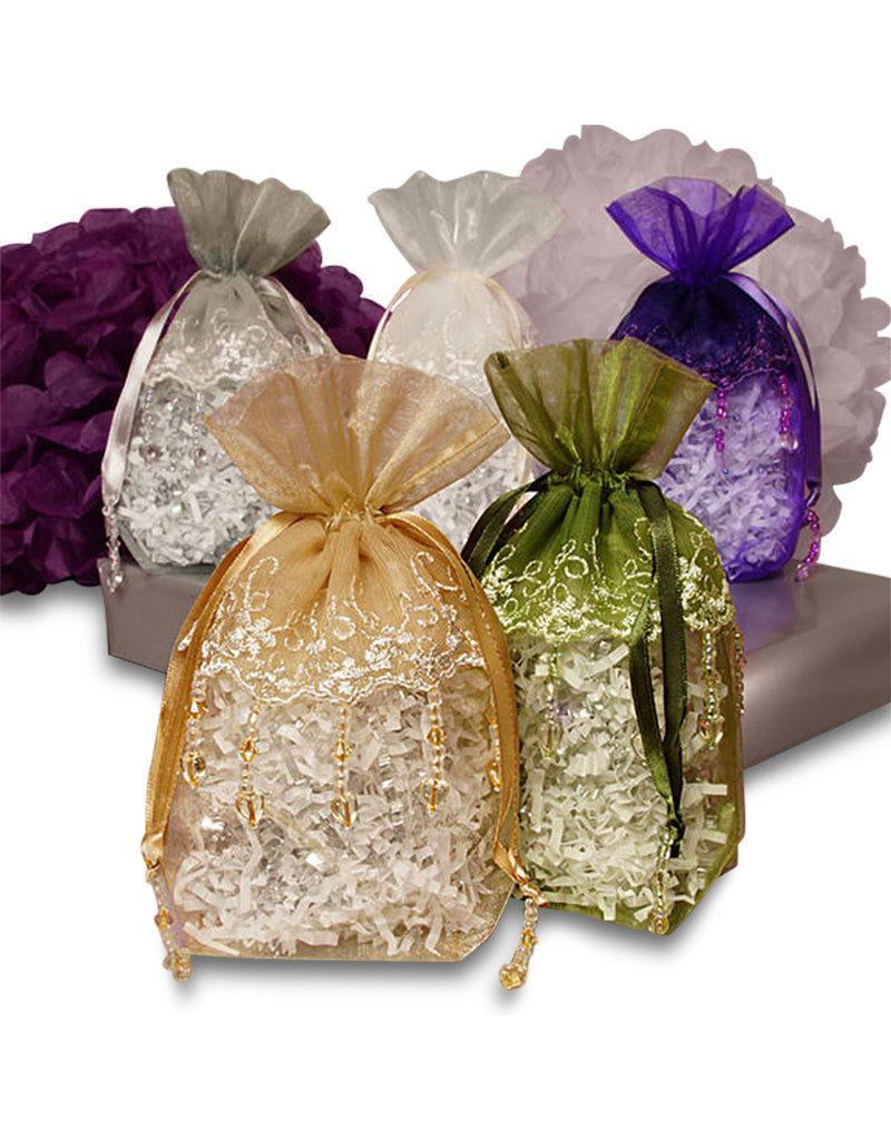 Canasta de regalo pequeña, caja o conjunto de organza