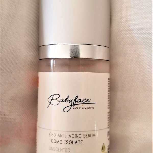 Healingifts  Babyface by Healingifts CBD 100 mg suero antienvejecimiento 30 ml