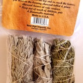 New Age™ Cedar, White, and Blue Sage Smudges, Wildcrafted