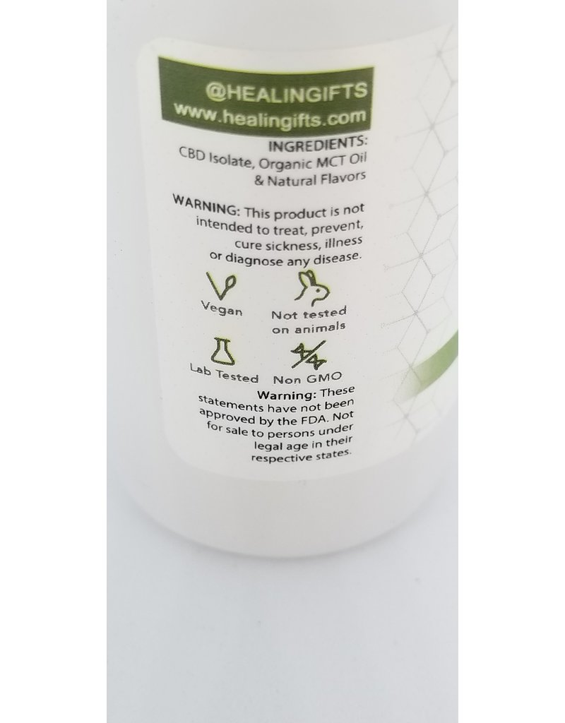 Healingifts CBD tincture 1000 MG ISOLATE Spearmint flavor 30 ml