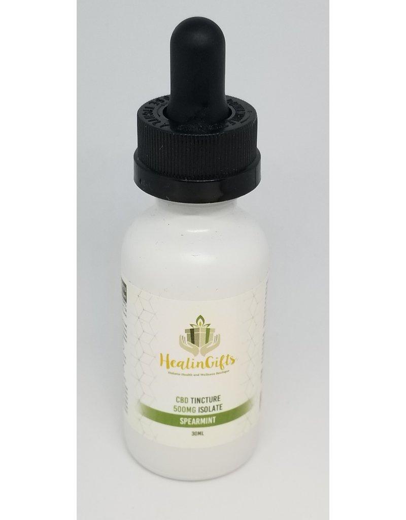 Healingifts CBD TINCTURE 500 MG ISOLATE Spearmint flavor 30 ml