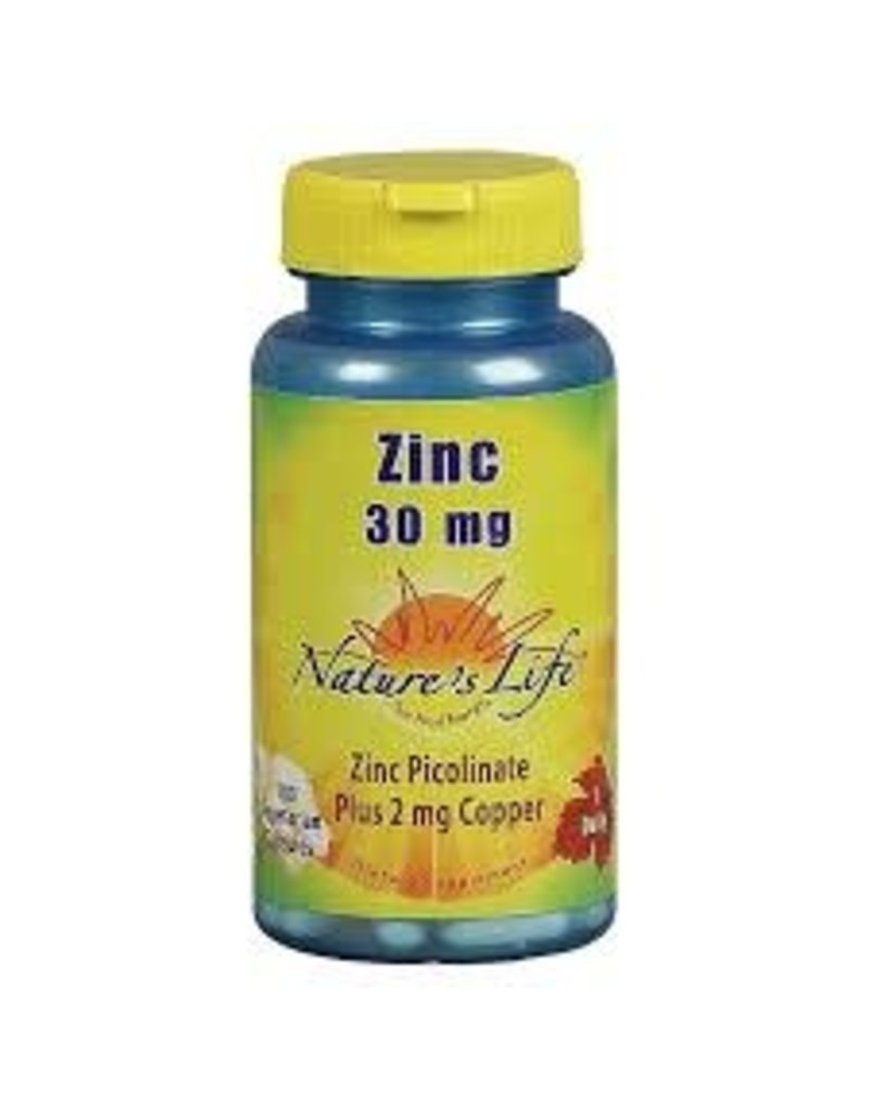 Nature's Life Zinc Picolinate 30 mg 100 vgc