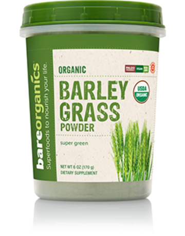 Bare Organics Barley Grass Powder Organic 6 oz