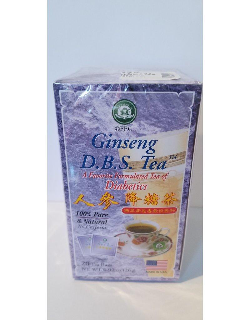 FEC Ginseng & Marine Products Ginseng D.B.S. Tea 20 tea bags net wt 1 oz