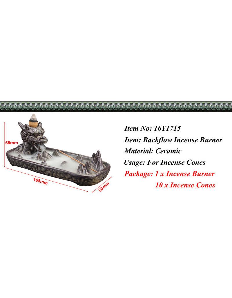 Ceramic Backflow Incense Burner- Dragon Head