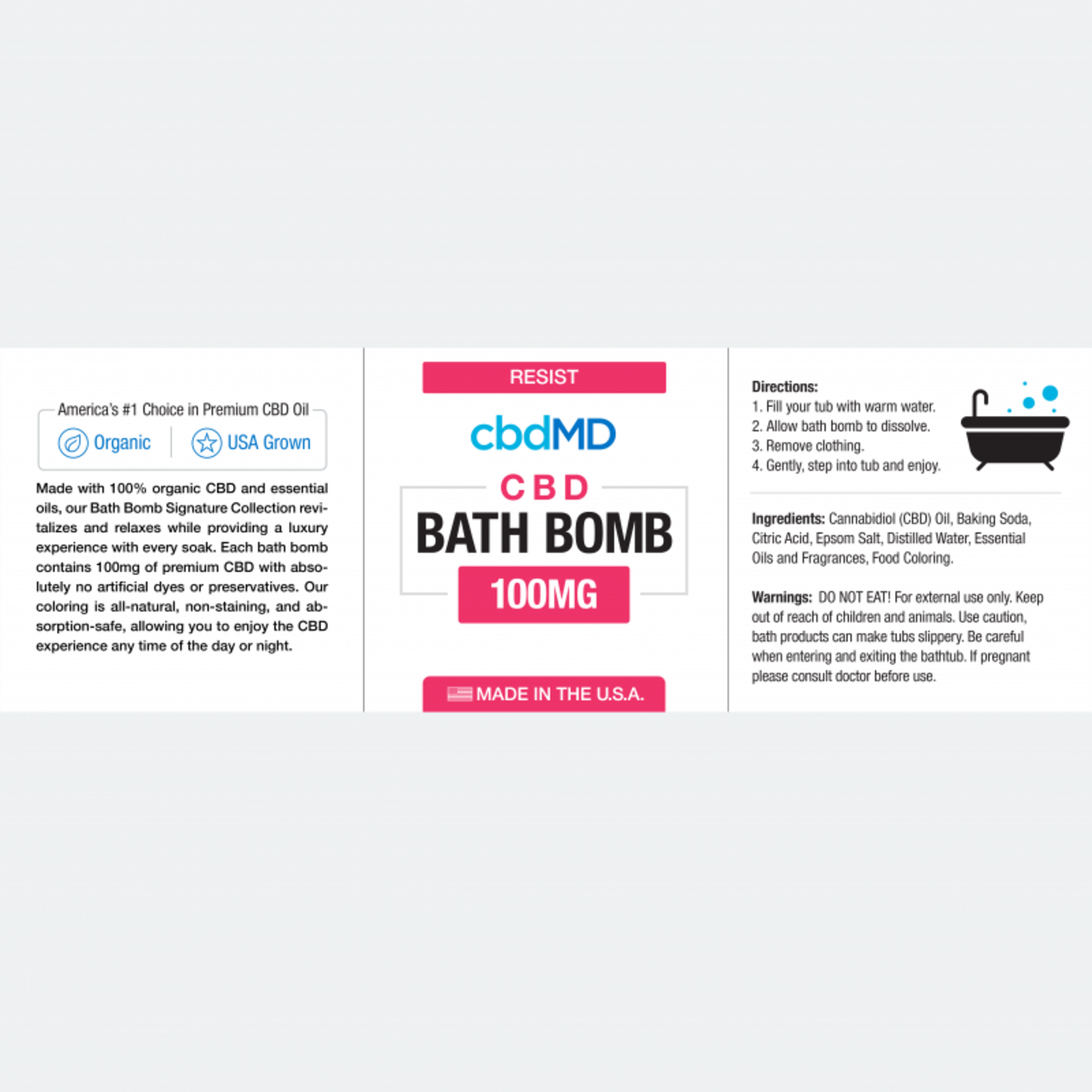 CBD Bath Bombs Resist