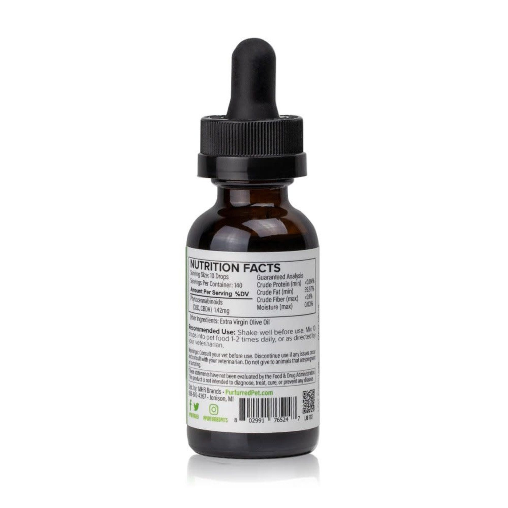Purfurred Purfurred Full Spectrum CBD for Cats 200mg