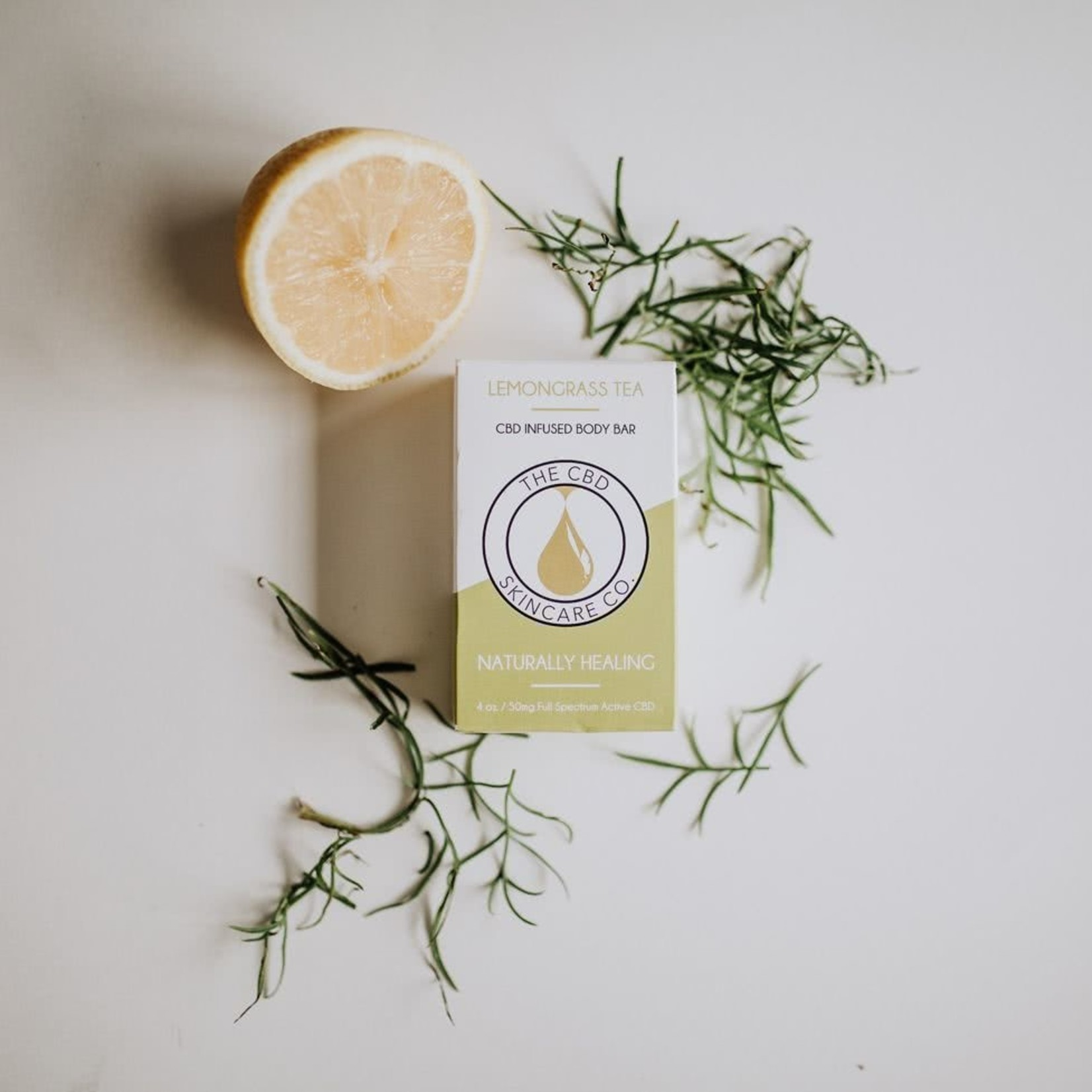 CBD Skincare Company Lemongrass Tea Body Bar Soap CBD 50mg