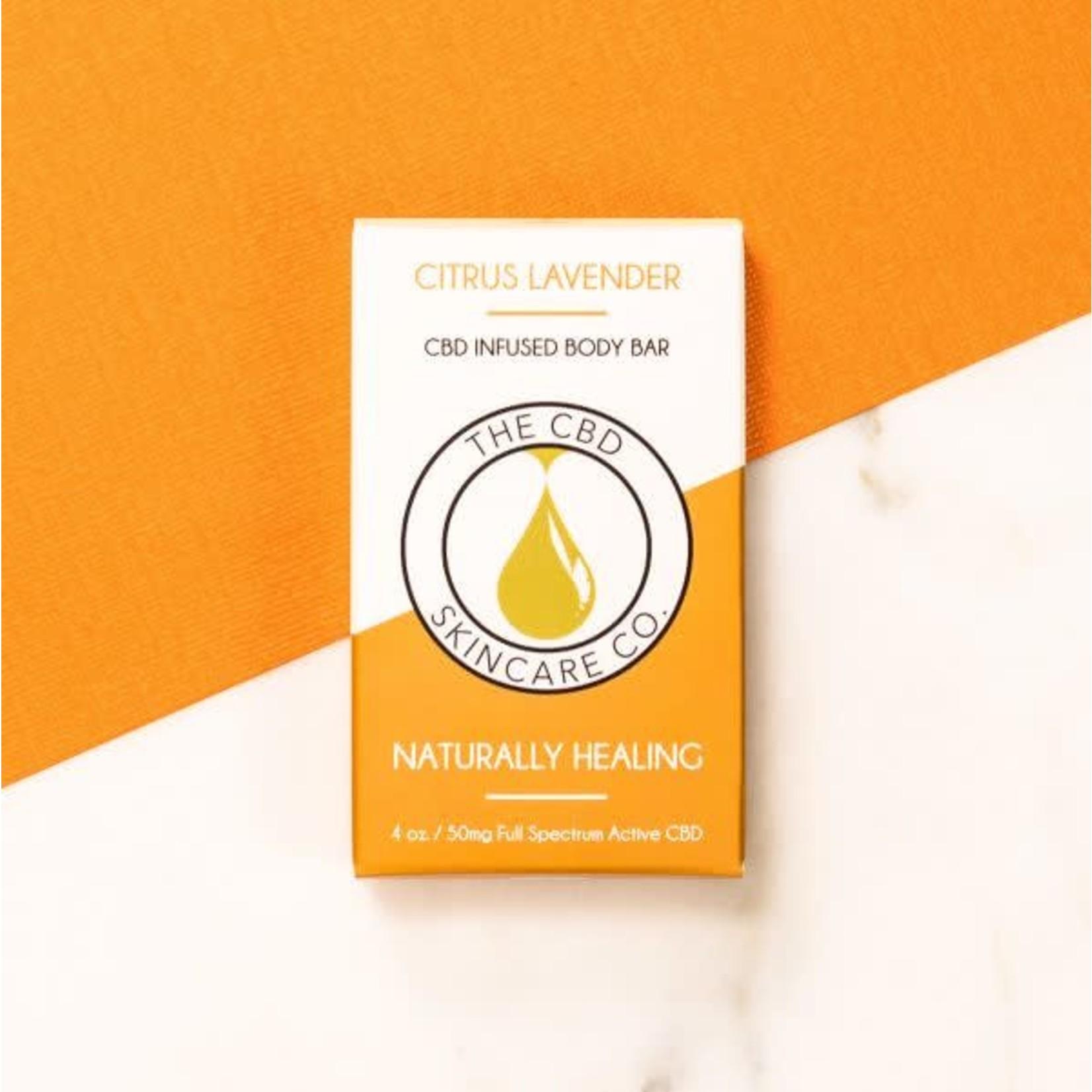 CBD Skincare Company Citrus Lavender Body Bar Soap CBD 50mg