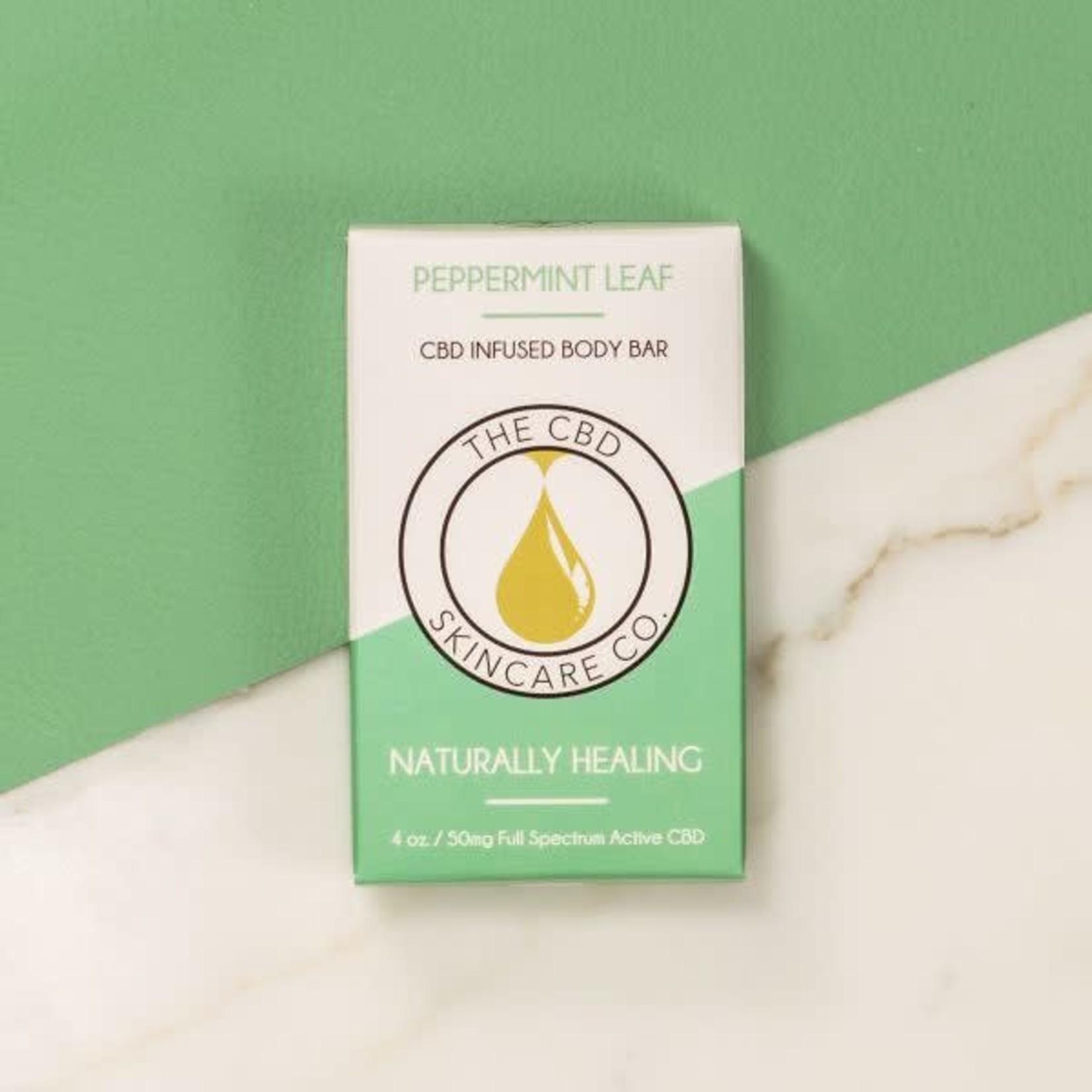 CBD Skincare Company Peppermint Leaf Body Bar Soap CBD 50mg