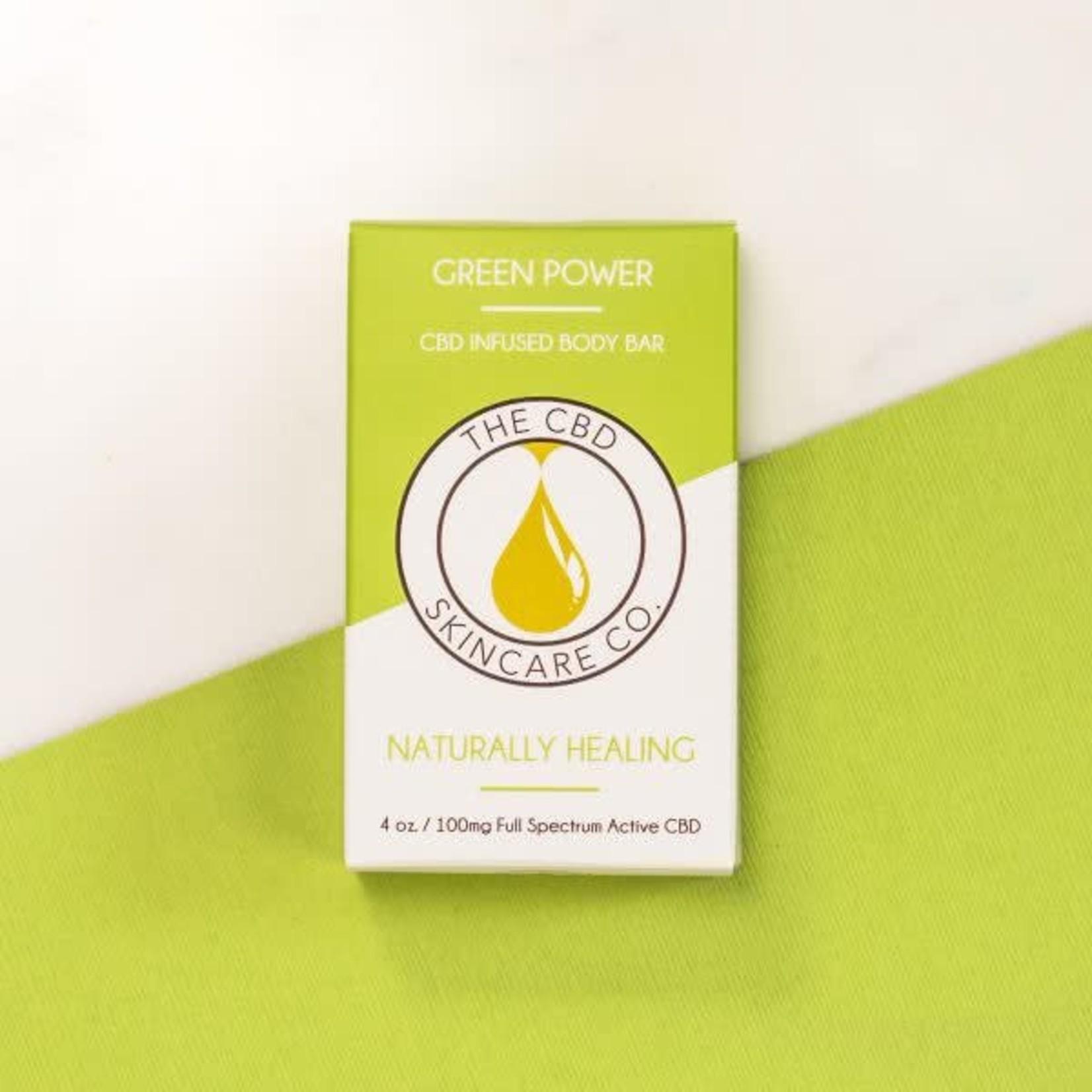 CBD Skincare Company Green Power Body Bar Soap CBD 100mg