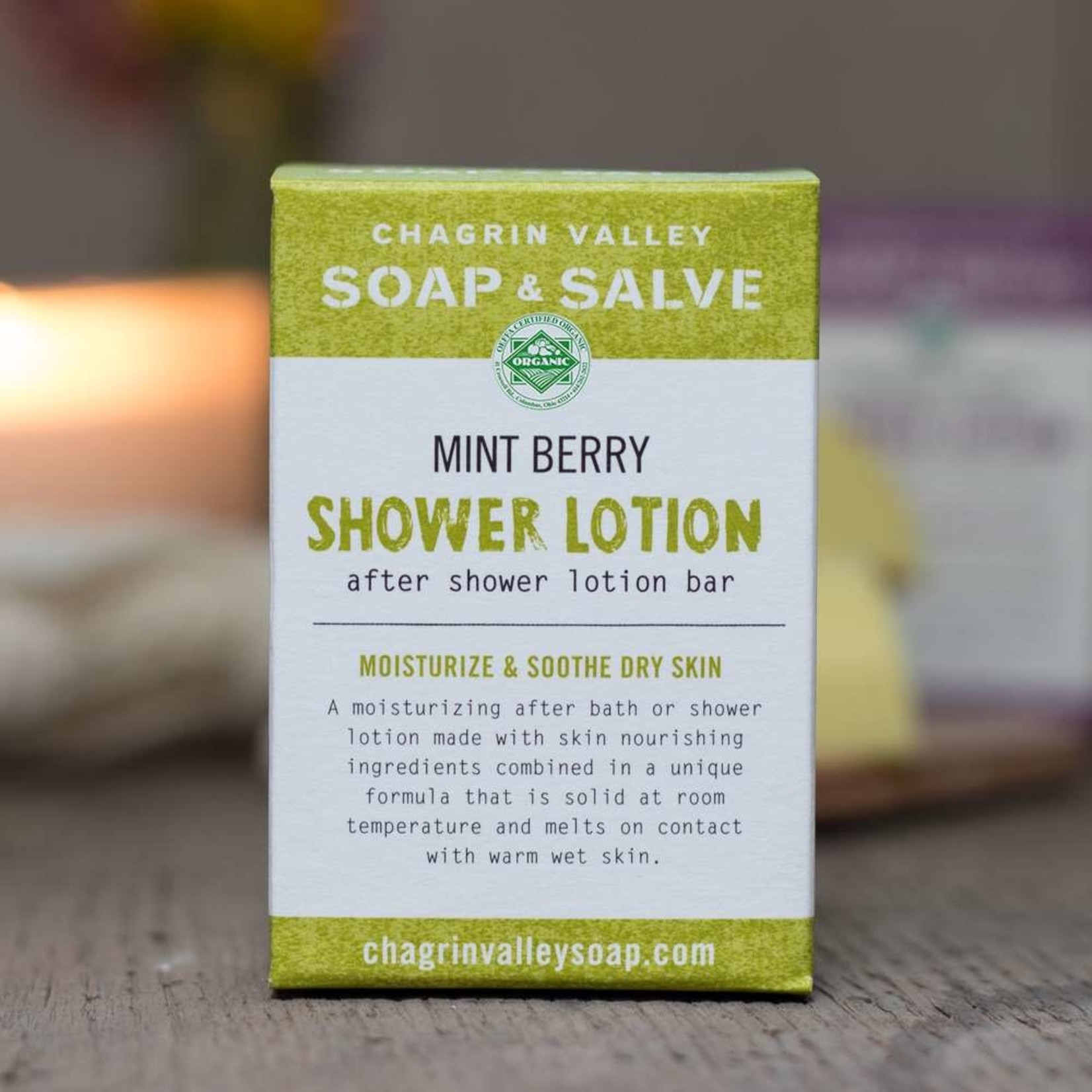 Chagrin Valley Soap and Salve Mint Berry Shower Lotion 3.5oz