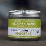 Chagrin Valley Soap and Salve Lemongrass Tea Tree Clay Silk Deodorant