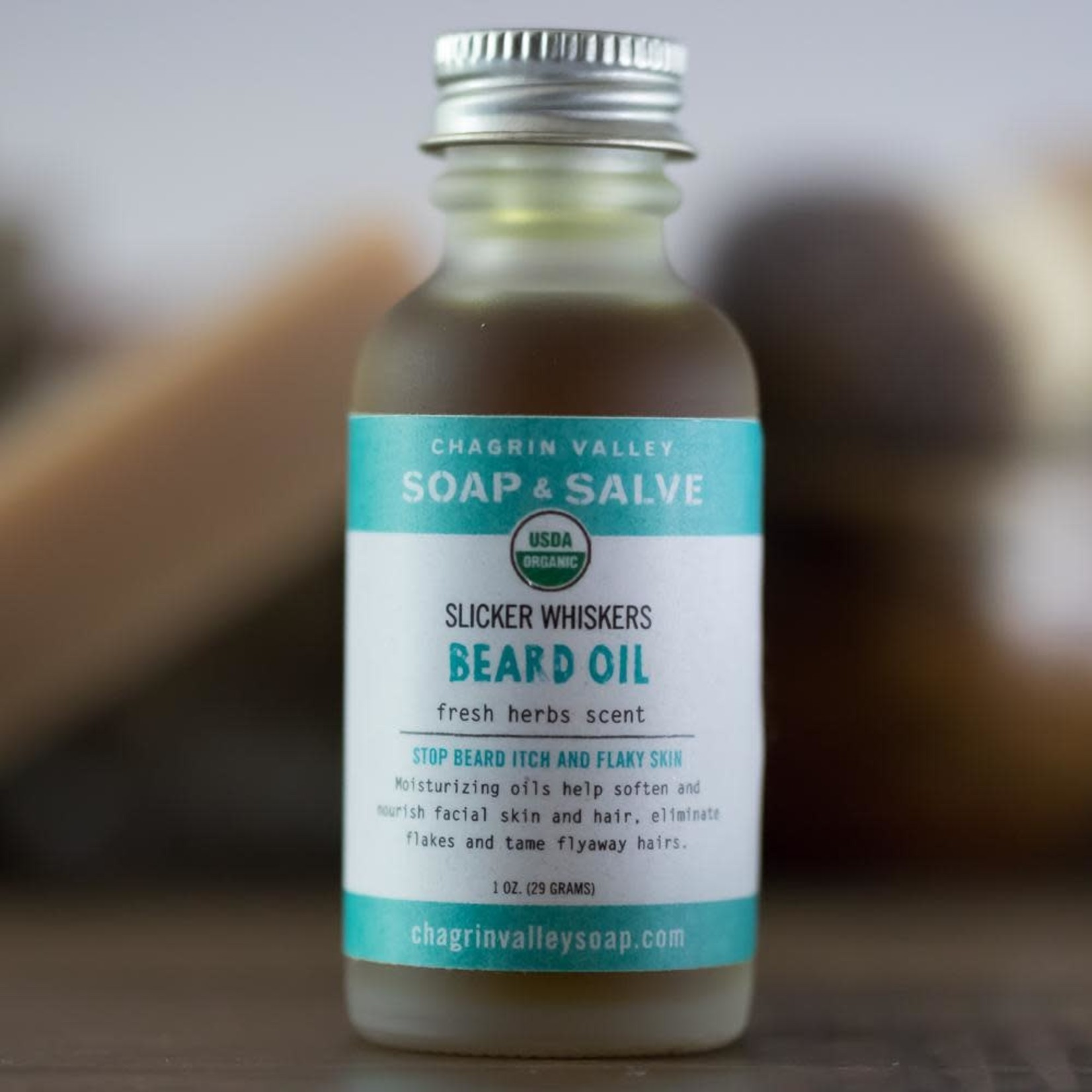 Chagrin Valley Soap and Salve Beard Oil Fresh Herbs Scent 1oz
