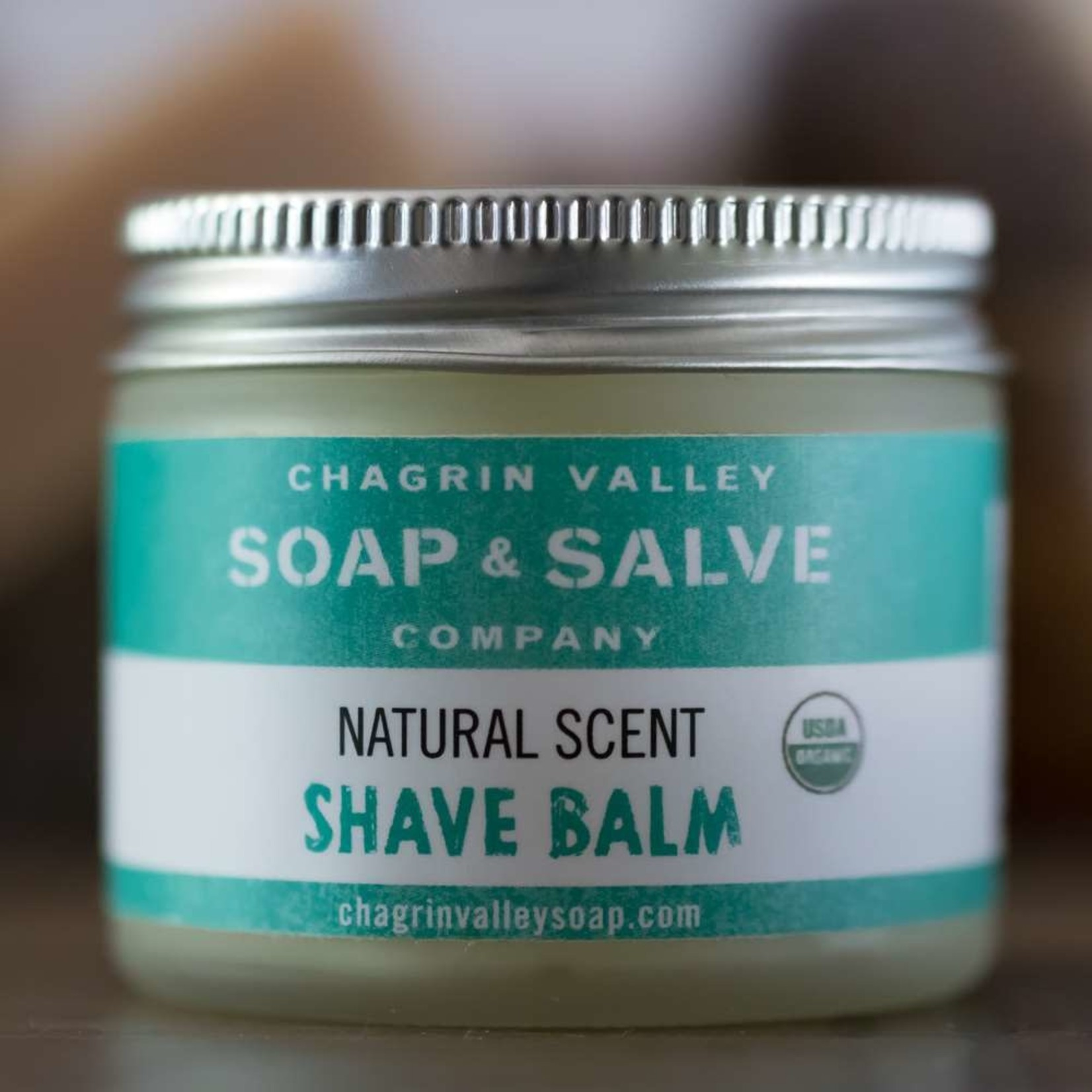 Chagrin Valley Soap and Salve Natural Scent Shave Balm 2.2oz Jar