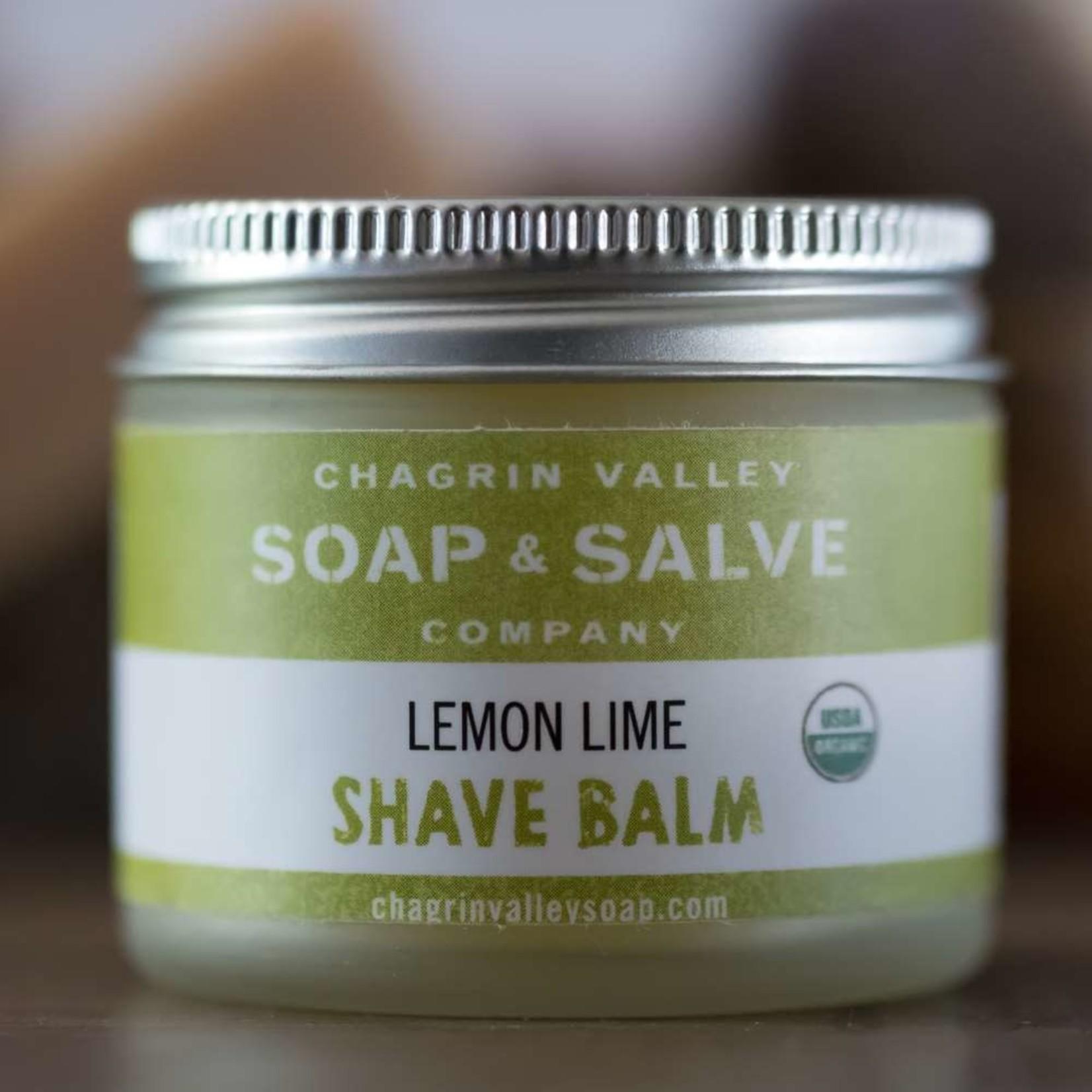 Chagrin Valley Soap and Salve Lemon Lime Shave Balm 2.2oz Jar