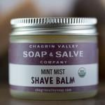 Chagrin Valley Soap and Salve Mint Mist Shave Balm 2.2oz Jar