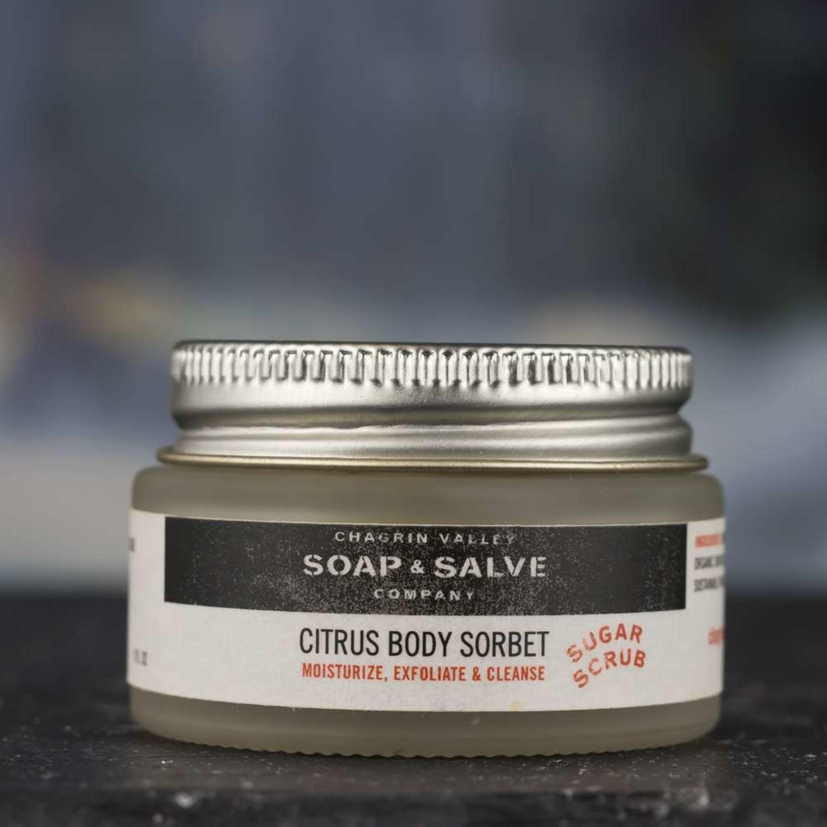 Chagrin Valley Soap and Salve Citrus & Sugar Body Cleansing Scrub 1oz tub