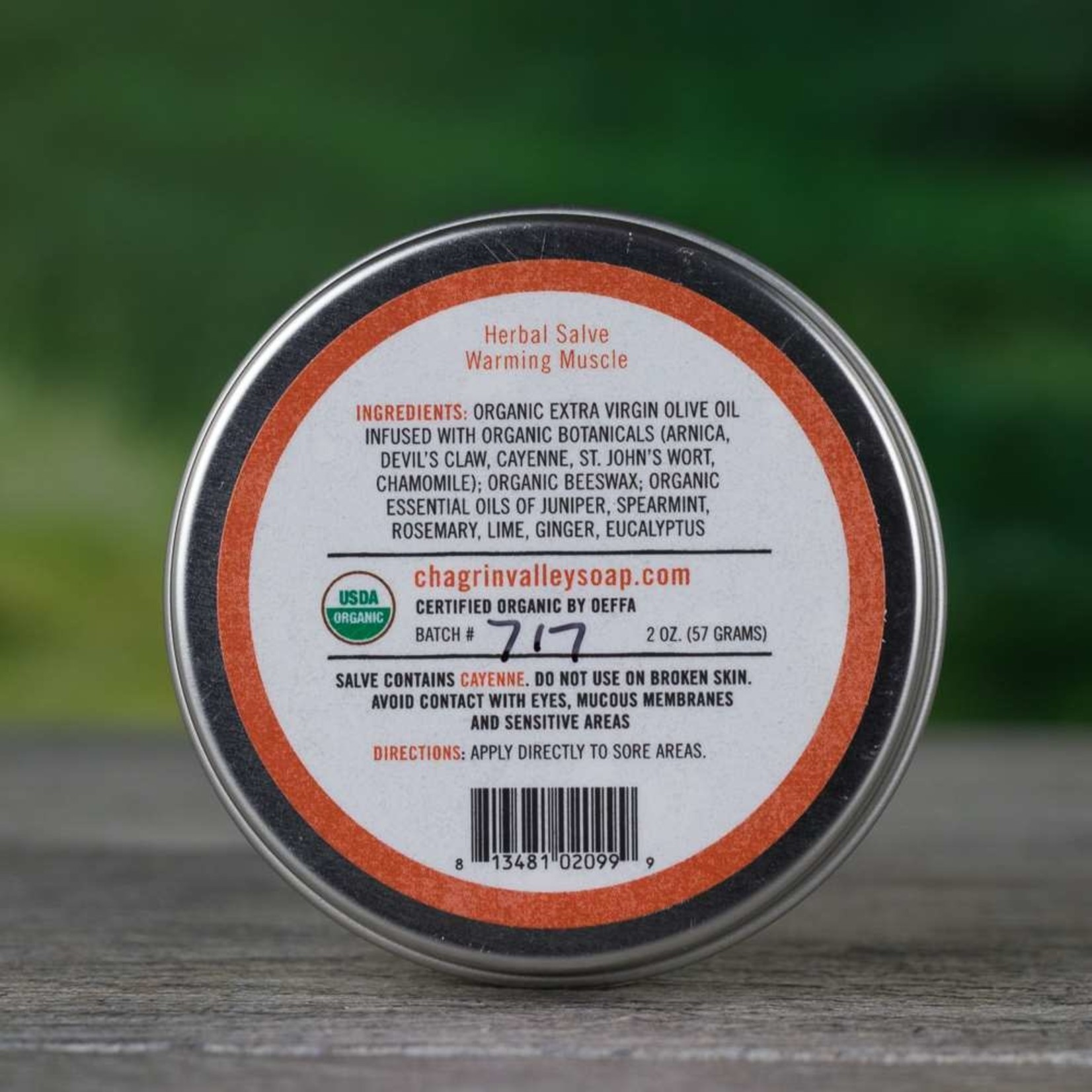 Chagrin Valley Soap and Salve Warming Muscle Herbal Salve 2oz tin