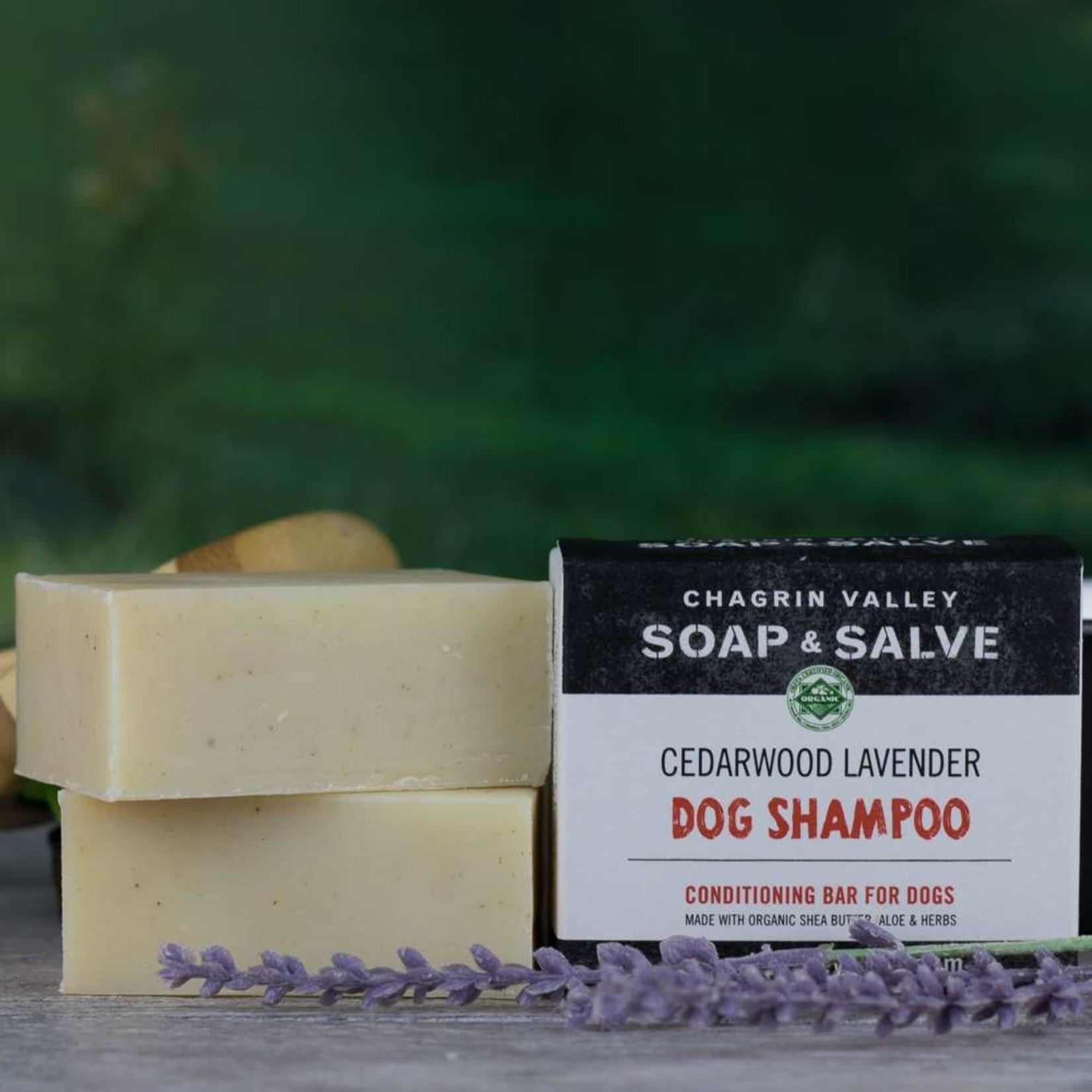 Chagrin Valley Soap and Salve Cedarwood lavender Dog Shampoo Bar