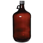 Boston Round Amber Glass Jug 64oz / 1.9 liters