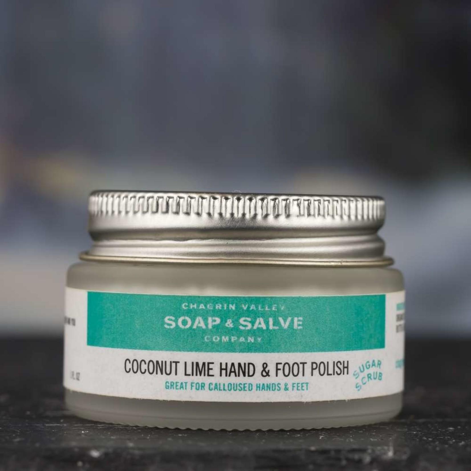 Chagrin Valley Soap and Salve Coconut Lime Hand & Foot Sugar Scrub 1oz jar
