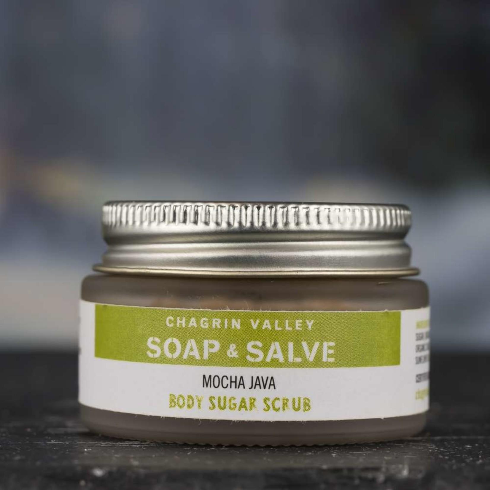 Chagrin Valley Soap and Salve Mocha Java Body Sugar scrub 1oz Travel Jar