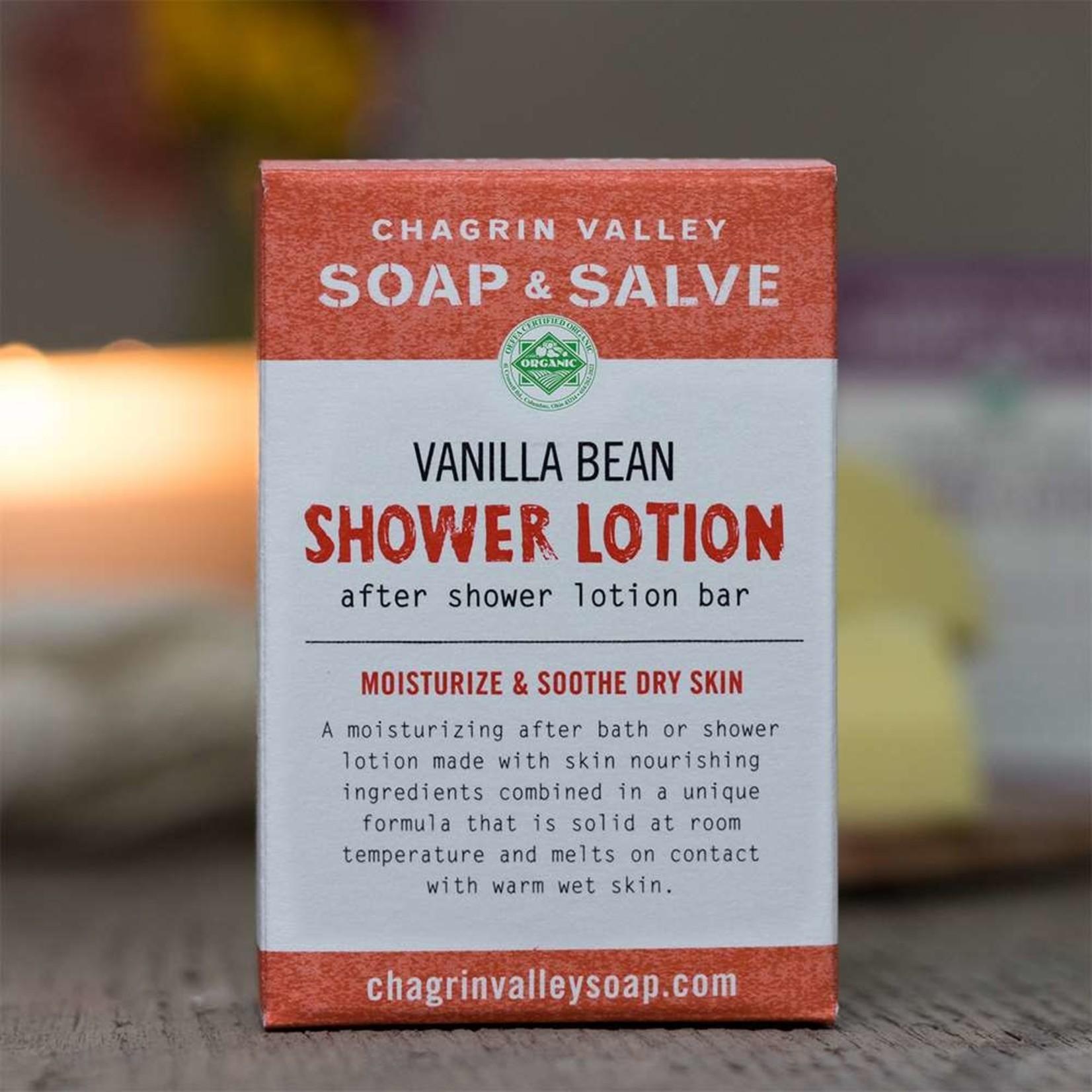 Chagrin Valley Soap and Salve Vanilla Bean Shower Lotion 3.5oz Bar