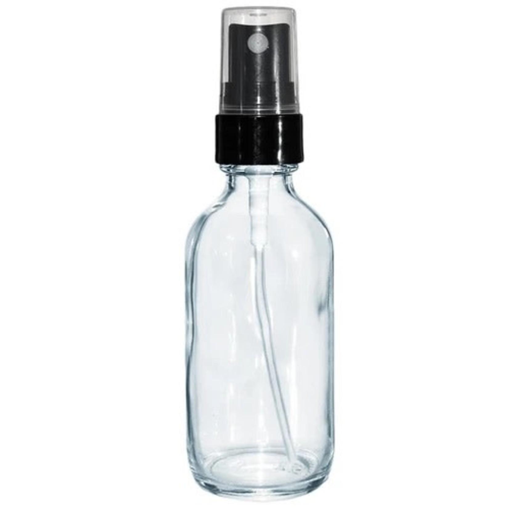 Boston Round Glass bottle w/sprayer 2oz