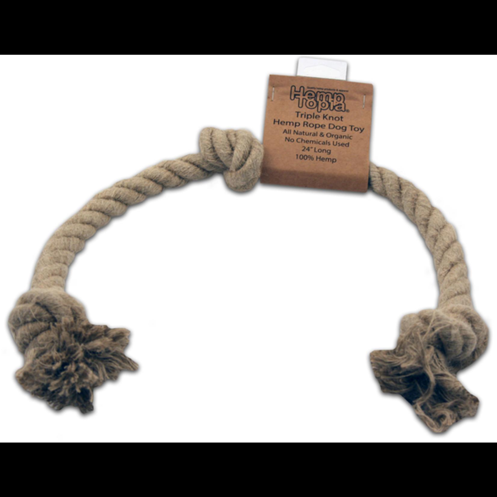 """Hemp Large Rope Dog Toy 24"""""""