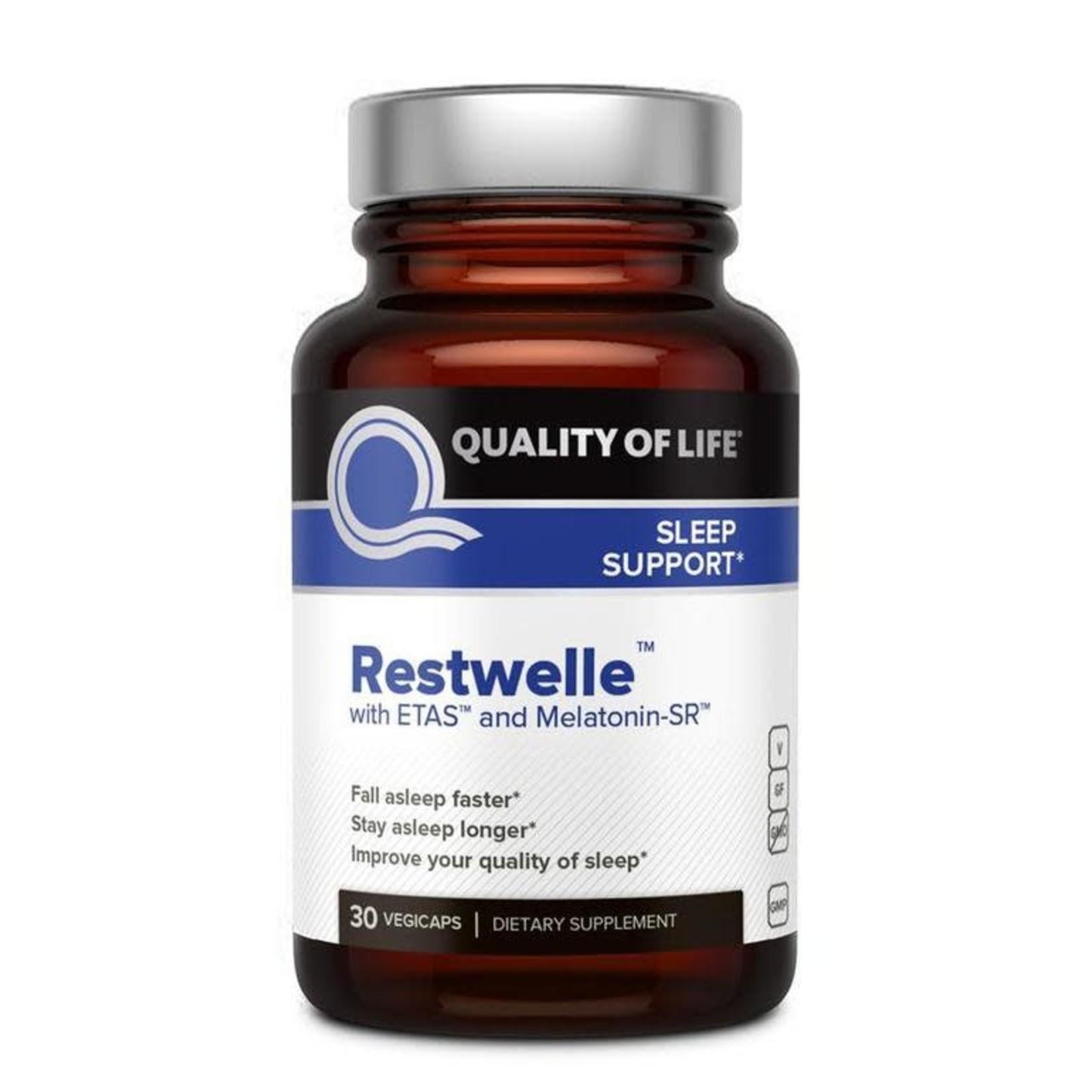 Quality of Life QOL Restwelle with ETAS and Melatonin-SR 30ct