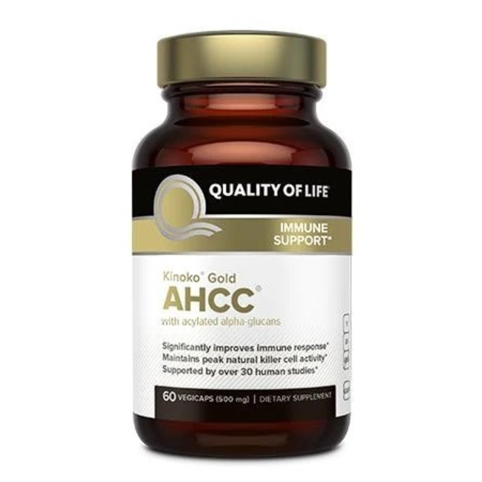 Quality of Life QOL Kinoko Gold AHCC with acylated alpha-glucans 60ct